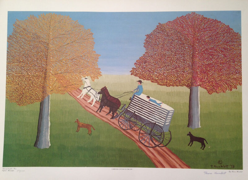 "The Theora Hamblett print ""Carrying Cotton to the Gin"" LIMITED EDITION NUMBERED AND SIGNED PRINTS"